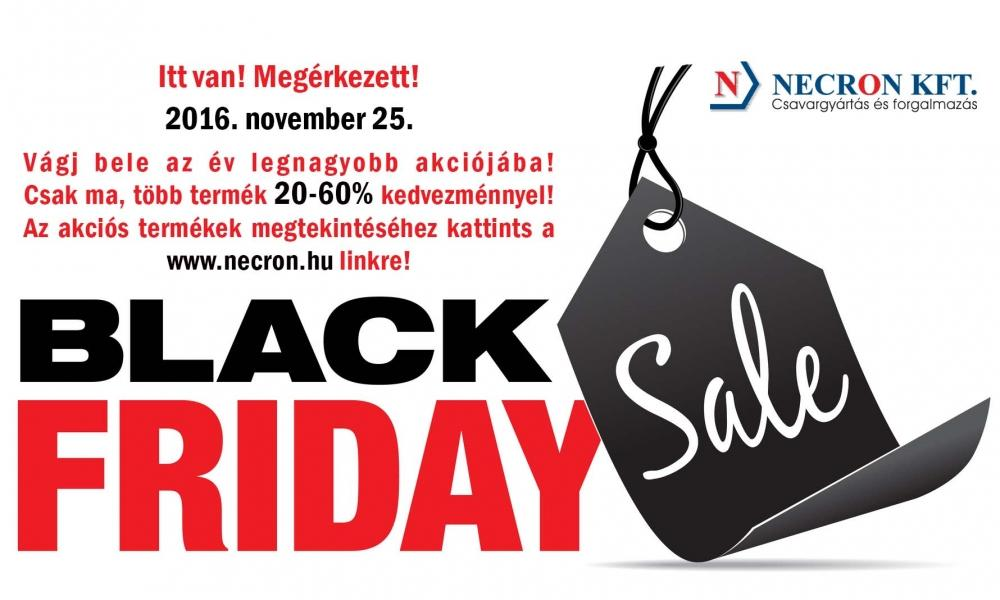 2016. november 25-i Black Friday akció